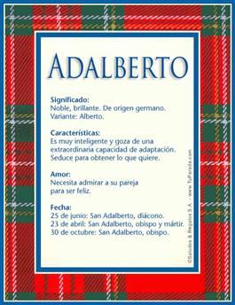 Nombre Adalberto