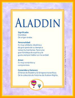 Nombre Aladdin