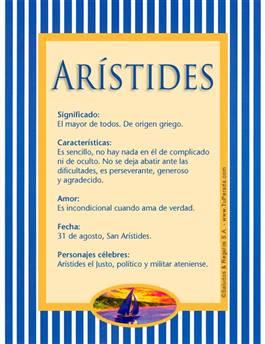 Nombre Arístides
