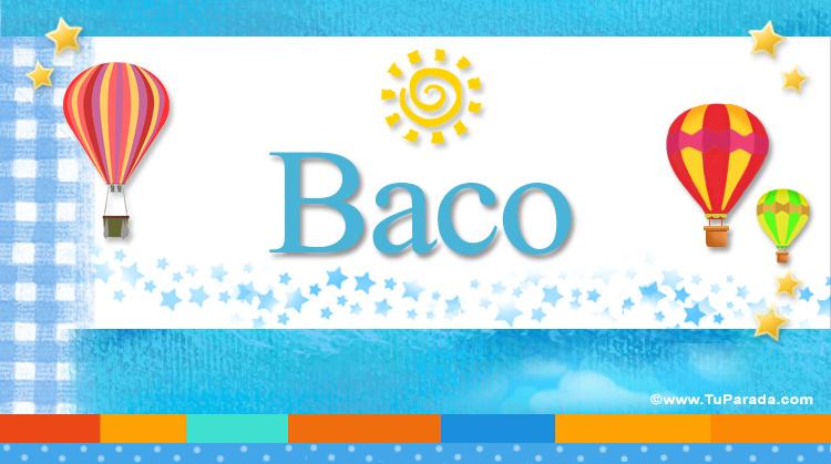 Baco, imagen de Baco
