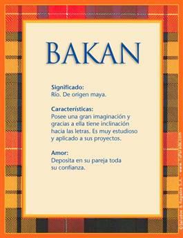 Nombre Bakan