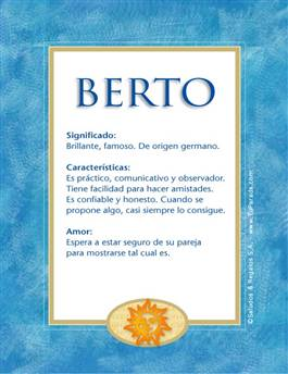 Nombre Berto
