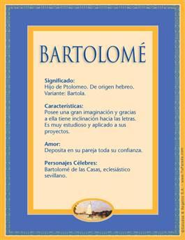 Nombre Bartolomé
