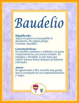 Nombre Baudelio