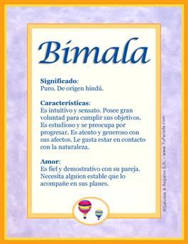 Nombre Bimala