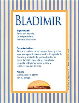 Nombre Bladimir