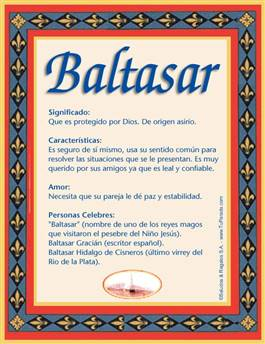 Nombre Baltasar