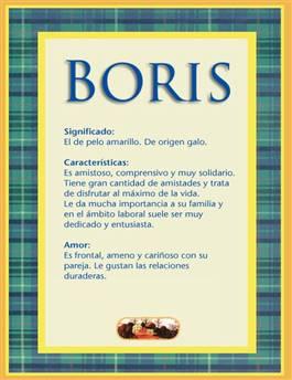 Nombre Boris