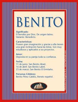 Nombre Benito