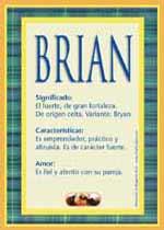 Nombre Brian