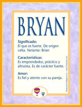 Nombre Bryan