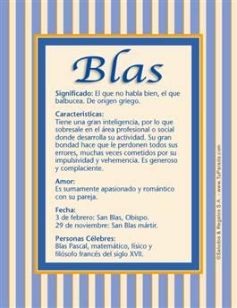 Nombre Blas