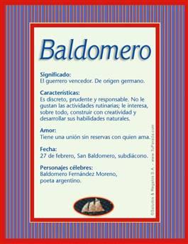 Nombre Baldomero