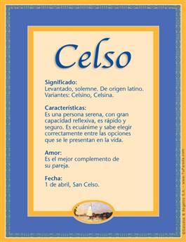 Nombre Celso