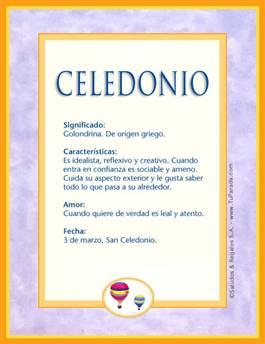 Nombre Celedonio