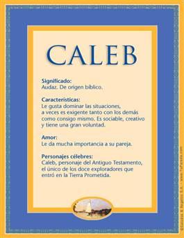 Nombre Caleb