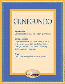 Nombre Cunegundo