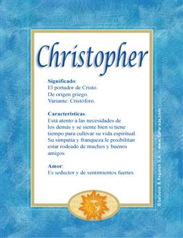 Nombre Christopher