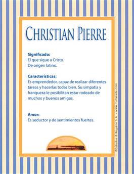 Nombre Christian Pierre