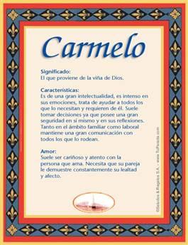 Nombre Carmelo