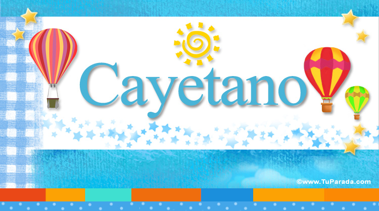 Cayetano, imagen de Cayetano