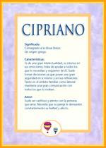 Nombre Cipriano
