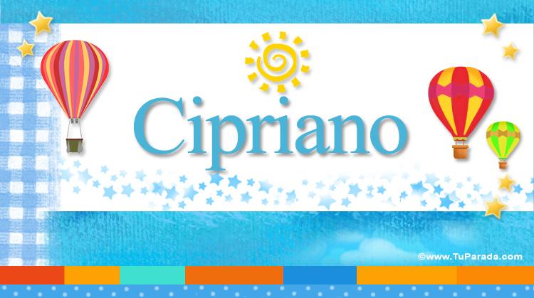 Cipriano, imagen de Cipriano