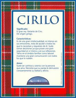 Nombre Cirilo