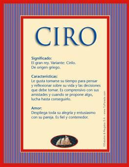 Nombre Ciro