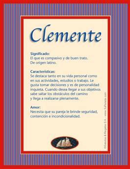 Nombre Clemente