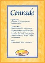 Nombre Conrado