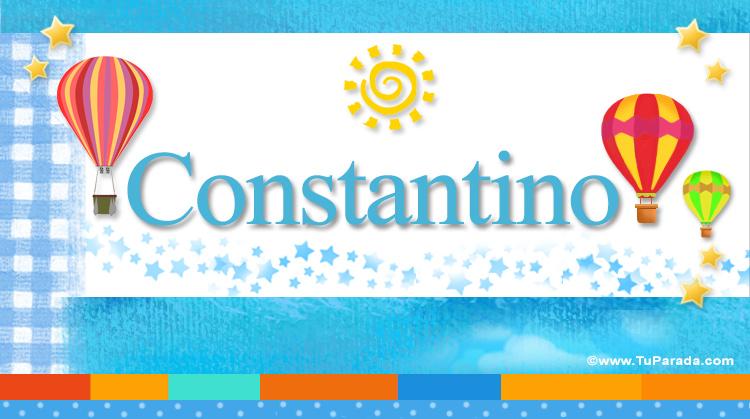 Constantino, imagen de Constantino
