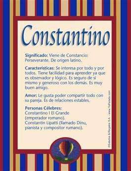Nombre Constantino