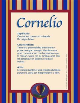 Nombre Cornelio