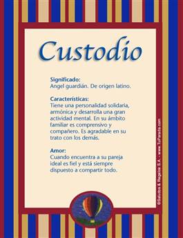 Nombre Custodio