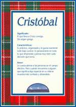 Nombre Cristóbal