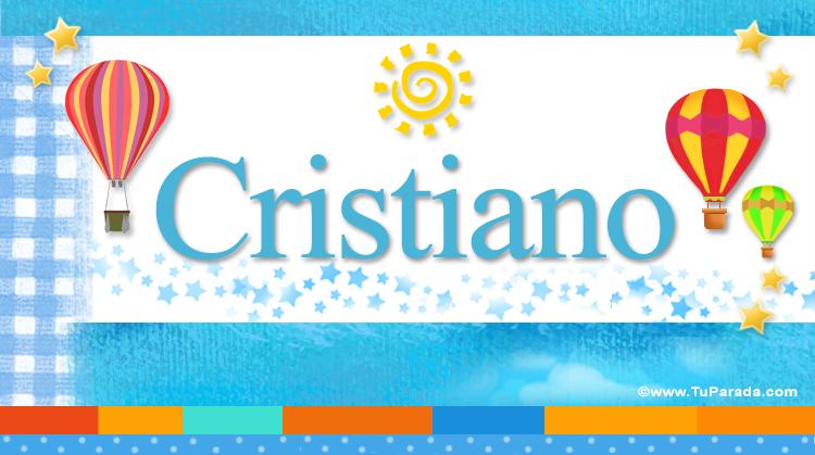 Cristiano, imagen de Cristiano