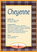 Nombre Cheyenne