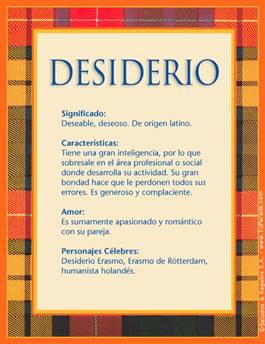 Nombre Desiderio