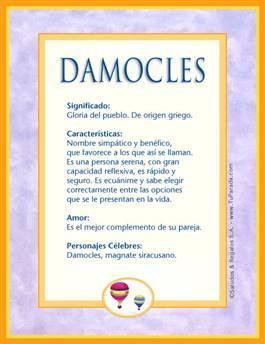 Nombre Damocles