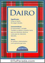 Nombre Dairo