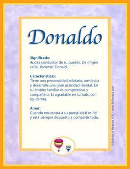 Nombre Donaldo