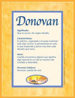 Nombre Donovan
