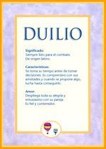 Nombre Duilio