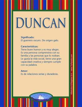 Nombre Duncan