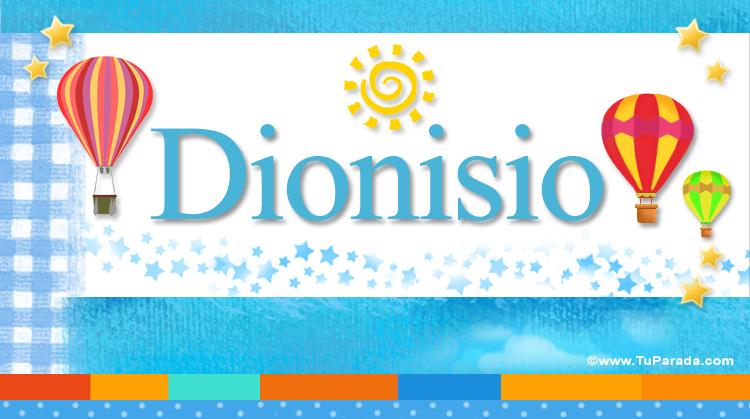 Dionisio, imagen de Dionisio
