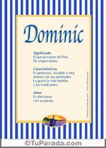 Nombre Dominic