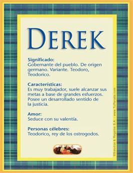 Nombre Derek