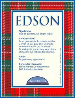 Nombre Edson