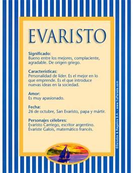 Nombre Evaristo